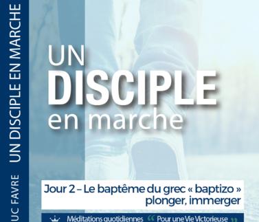Plan 8 Luc Favre - Jour 2 – Le baptême du grec « baptizo » plonger, immerger Square
